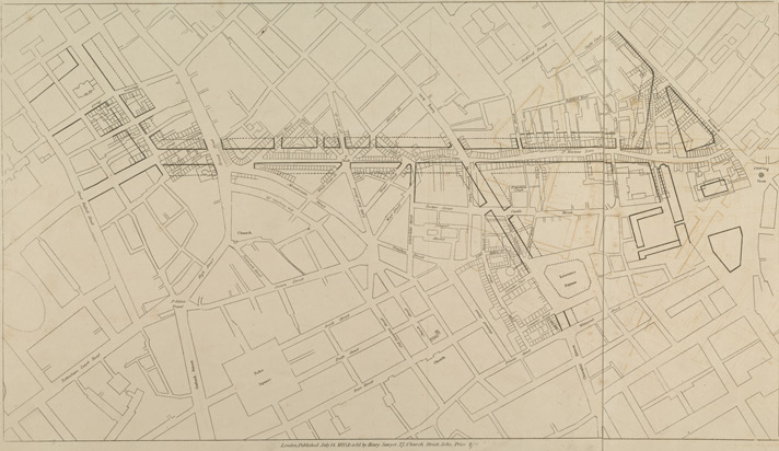 [A Plan of the intended improvements from Charing Cross to Bedford Square]